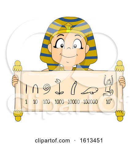 Kid Boy Egyptian Numeral System Illustration by BNP Design Studio