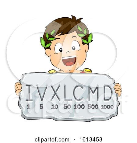 Kid Boy Roman Numeral System Illustration by BNP Design Studio