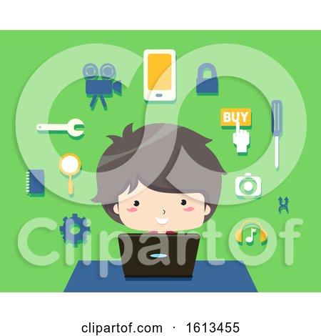 Kid Boy App Development Illustration by BNP Design Studio
