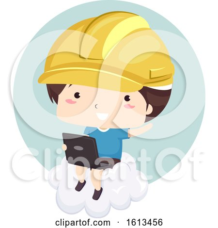 Kid Boy Cloud Engineer Illustration by BNP Design Studio
