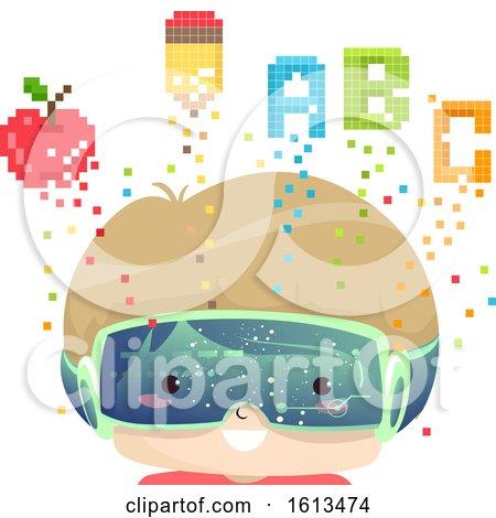 Kid Boy Education Pixel Art Illustration by BNP Design Studio