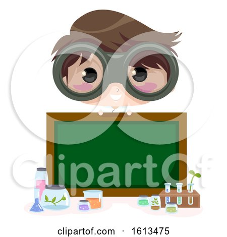 Kid Boy Scientist Board Illustration by BNP Design Studio