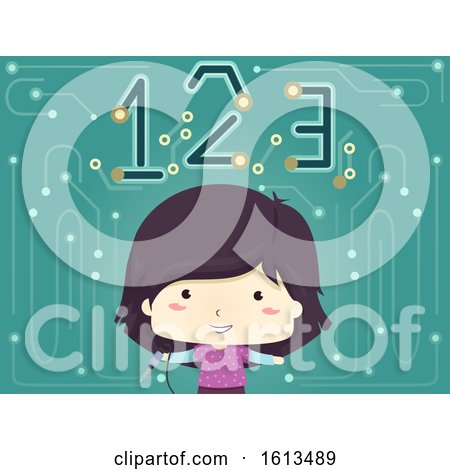 Kid Girl Soldering Iron 123 Illustration by BNP Design Studio