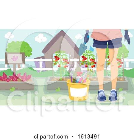 Girl Gardening Illustration by BNP Design Studio