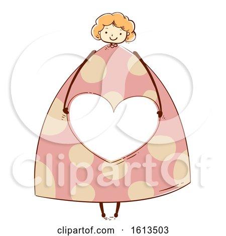 Girl Design Heart Share Frame Illustration by BNP Design Studio