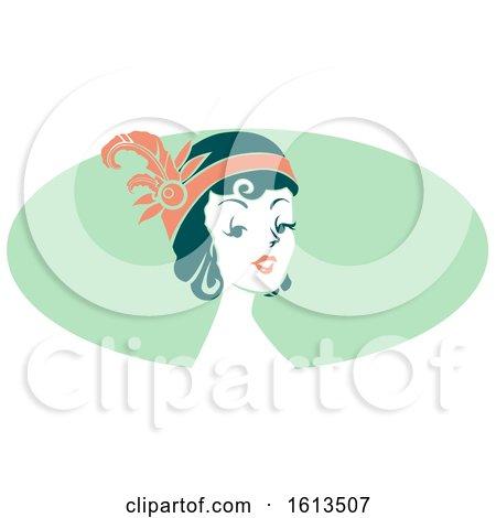 Woman Wearing a Flapper Headdress by BNP Design Studio