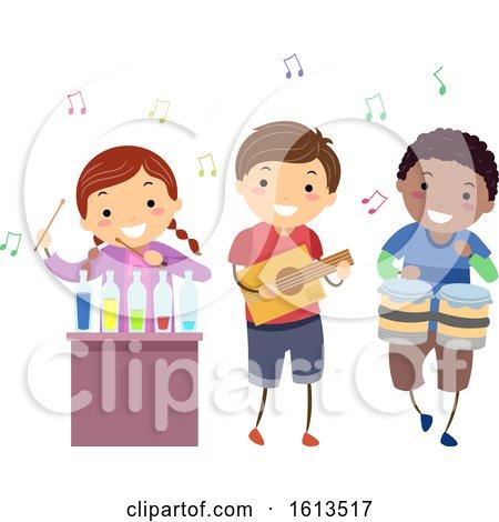 Stickman Kids Music Instruments Illustration by BNP Design Studio