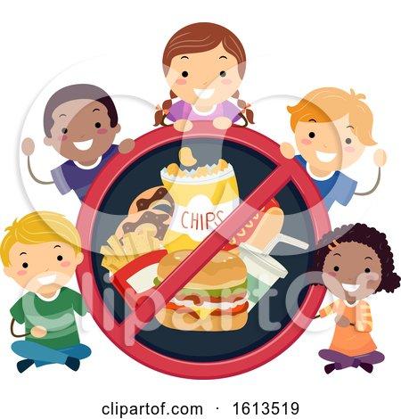 Stickman Kids No to Junk Foods Illustration by BNP Design Studio