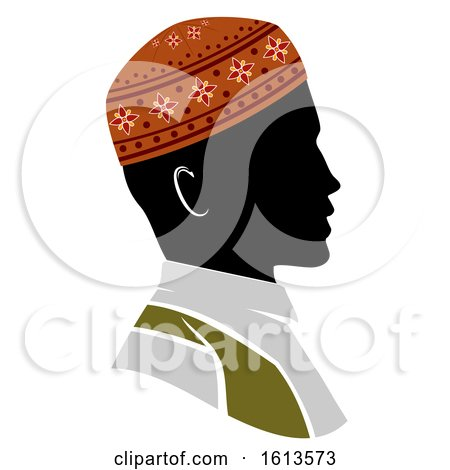 Silhouette Man Muslim Illustration by BNP Design Studio