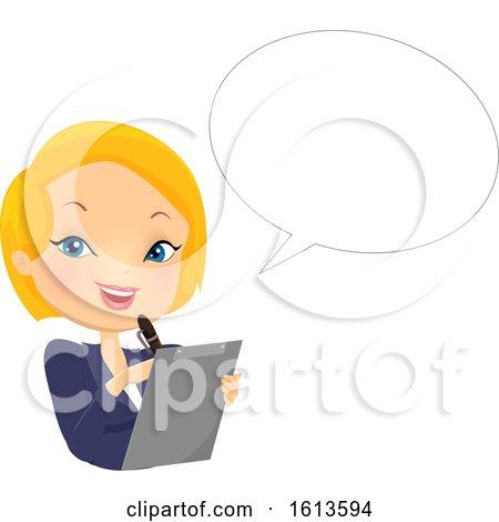 Girl Organiser Speech Bubble Illustration by BNP Design Studio