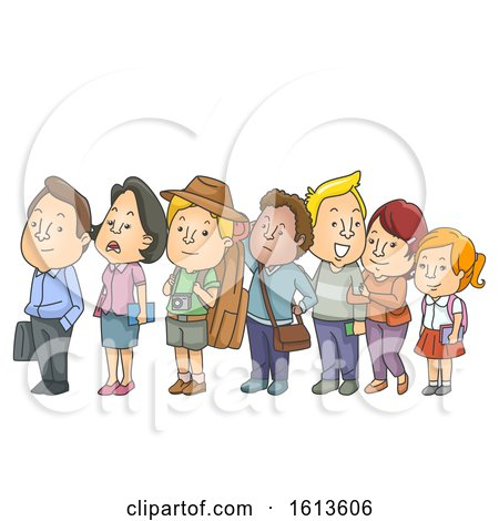 People Waiting Line Illustration by BNP Design Studio