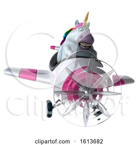 Clipart of a 3d Chubby Unicorn, on a White Background - Royalty Free Illustration by Julos