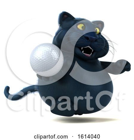 Clipart of a 3d Black Kitty Cat, on a White Background - Royalty Free Illustration by Julos