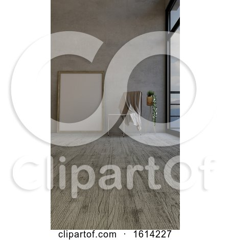 3D Contemporary Empty Room and Picture Frame by KJ Pargeter