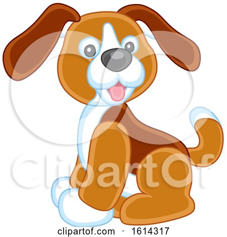 Clipart of a Puppy Dog Kids Toy - Royalty Free Vector Illustration by Alex Bannykh