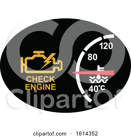 Clipart of a Check Engine Dashboard Light - Royalty Free Vector Illustration by patrimonio