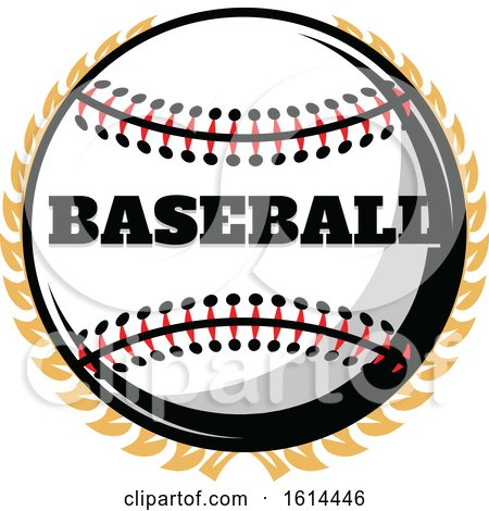 Clipart of a Baseball and Wreath - Royalty Free Vector Illustration by Vector Tradition SM