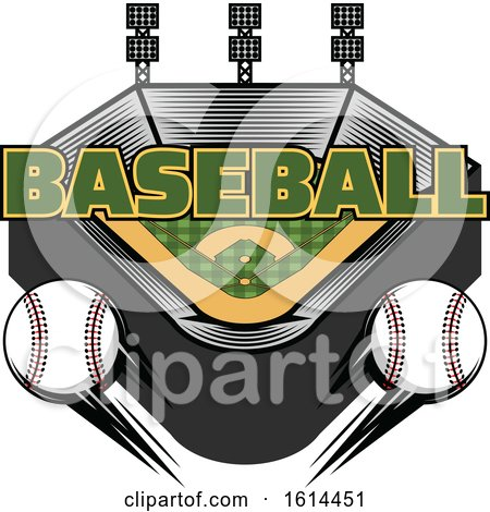 Clipart of a Baseball Stadium - Royalty Free Vector Illustration by Vector Tradition SM