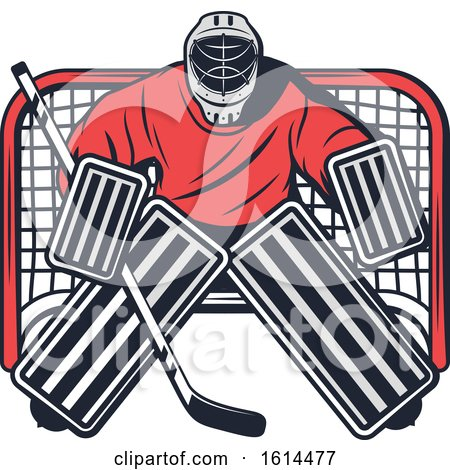 Clipart of a Hockey Goalie - Royalty Free Vector Illustration by Vector Tradition SM