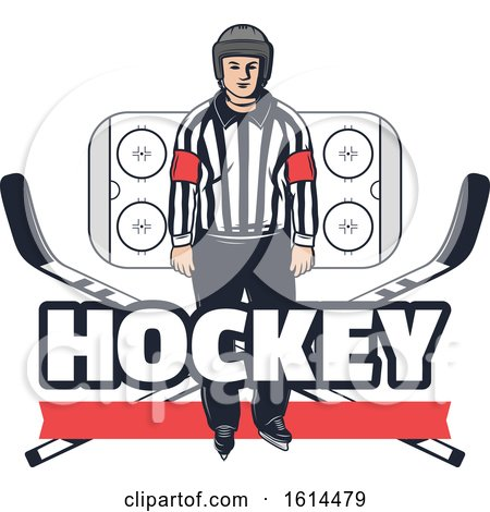 Clipart of a Hockey Design - Royalty Free Vector Illustration by Vector Tradition SM
