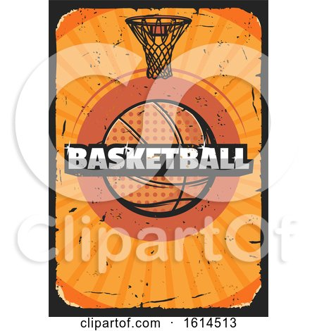 Clipart of a Distressed Basketball Design - Royalty Free Vector Illustration by Vector Tradition SM