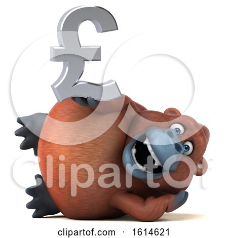 Clipart of a 3d Orangutan Monkey, on a White Background - Royalty Free Illustration by Julos