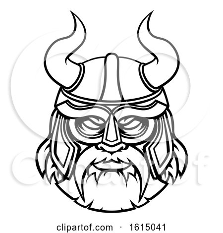Viking Warrior Sports Mascot Character by AtStockIllustration