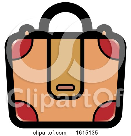 Clipart of a Suitcase Icon - Royalty Free Vector Illustration by Lal Perera