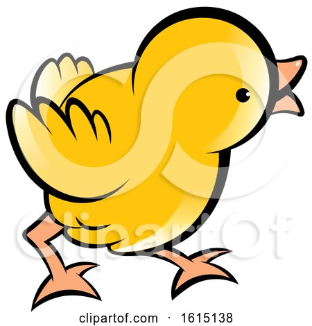Cute Curious Yellow Chick Posters, Art Prints