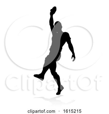 Baseball Player Silhouette by AtStockIllustration