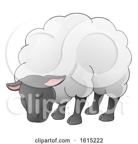 Sheep Animal Cartoon Character by AtStockIllustration