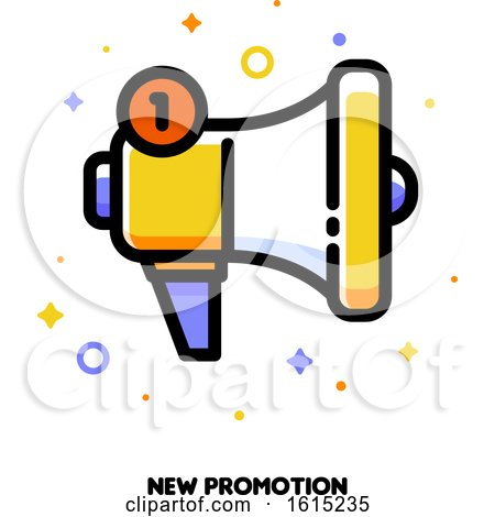 Icon of Megaphone for New Promotion Concept by elena