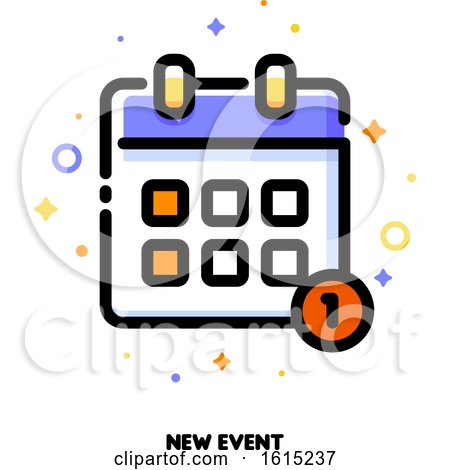 Icon of Calendar for New Event Concept by elena