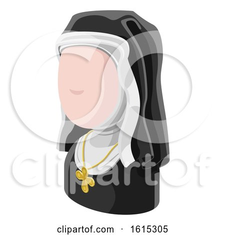 Nun Woman Avatar People Icon by AtStockIllustration