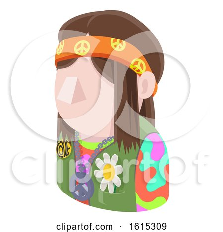 Hippy Hipster Man Avatar People Icon by AtStockIllustration