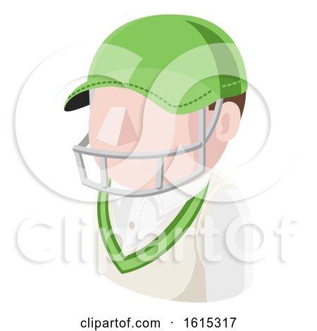 Cricket Man Avatar People Icon by AtStockIllustration