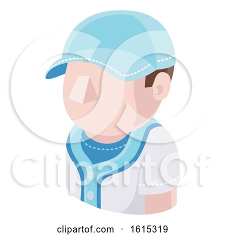 Baseball Man Avatar People Icon by AtStockIllustration