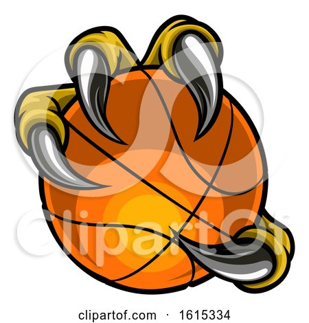 Eagle Bird Monster Claw Holding Basketball Ball by AtStockIllustration