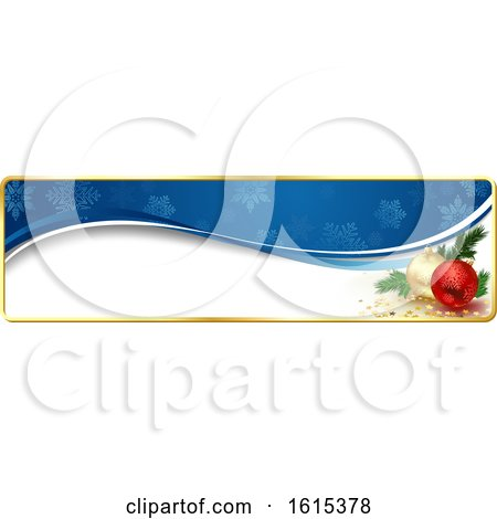 Clipart of a Christmas Website Banner Header with Baubles - Royalty Free Vector Illustration by dero