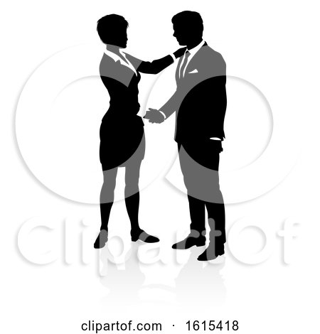 Business People Silhouette, on a white background by AtStockIllustration