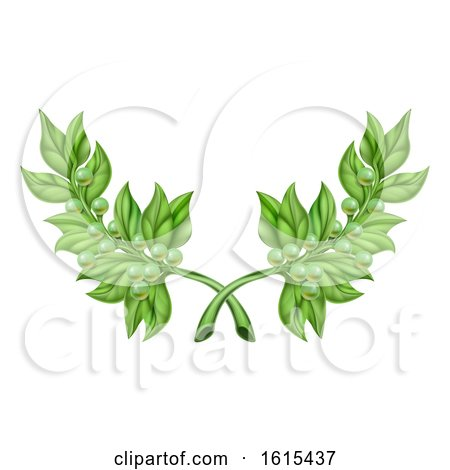 Olive Branch Wreath by AtStockIllustration