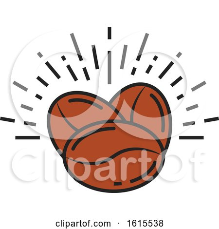 Clipart of a Coffee Bean Design - Royalty Free Vector Illustration by Vector Tradition SM