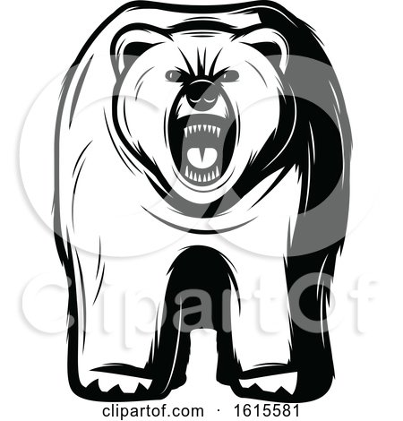 Clipart of a Black and White Bear - Royalty Free Vector Illustration by Vector Tradition SM