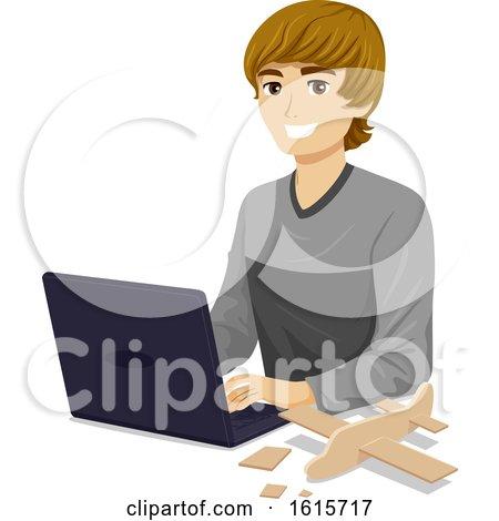Teen Boy Aerospace Engineer Illustration by BNP Design Studio