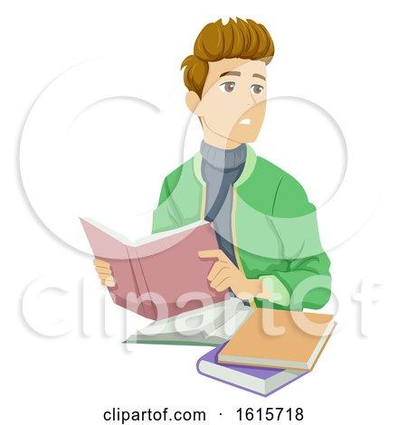 Teen Boy Distraction Illustration by BNP Design Studio