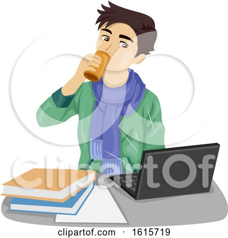 Teen Boy Energy Drink Illustration by BNP Design Studio