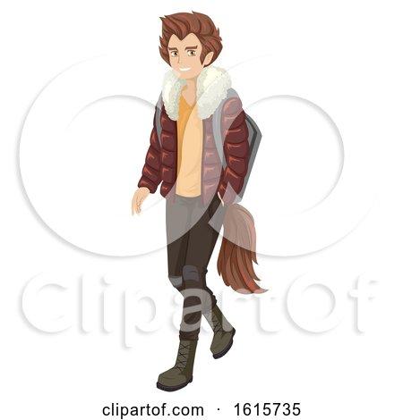 Teen Boy Wolf Illustration by BNP Design Studio