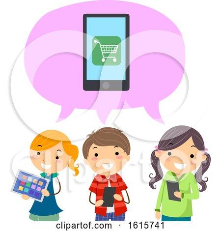 Stickman Kids Mobile Apps Buy Online Illustration by BNP Design Studio