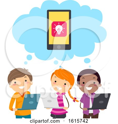 Stickman Kids Mobile Apps Develop Think by BNP Design Studio