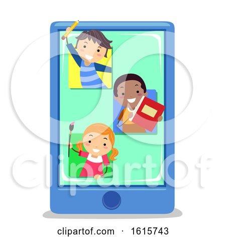 Stickman Kids Mobile Apps Education Illustration by BNP Design Studio